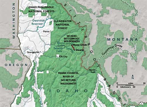 Sapphire Mountains Montana Map.Bitterroot Range Location Www Picsbud Com